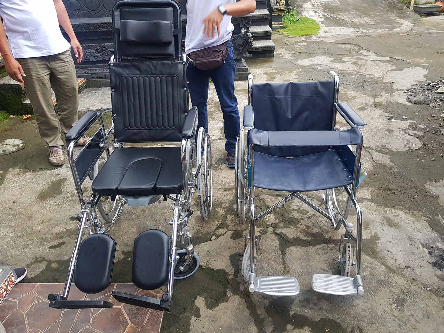 two wheelchairs for family