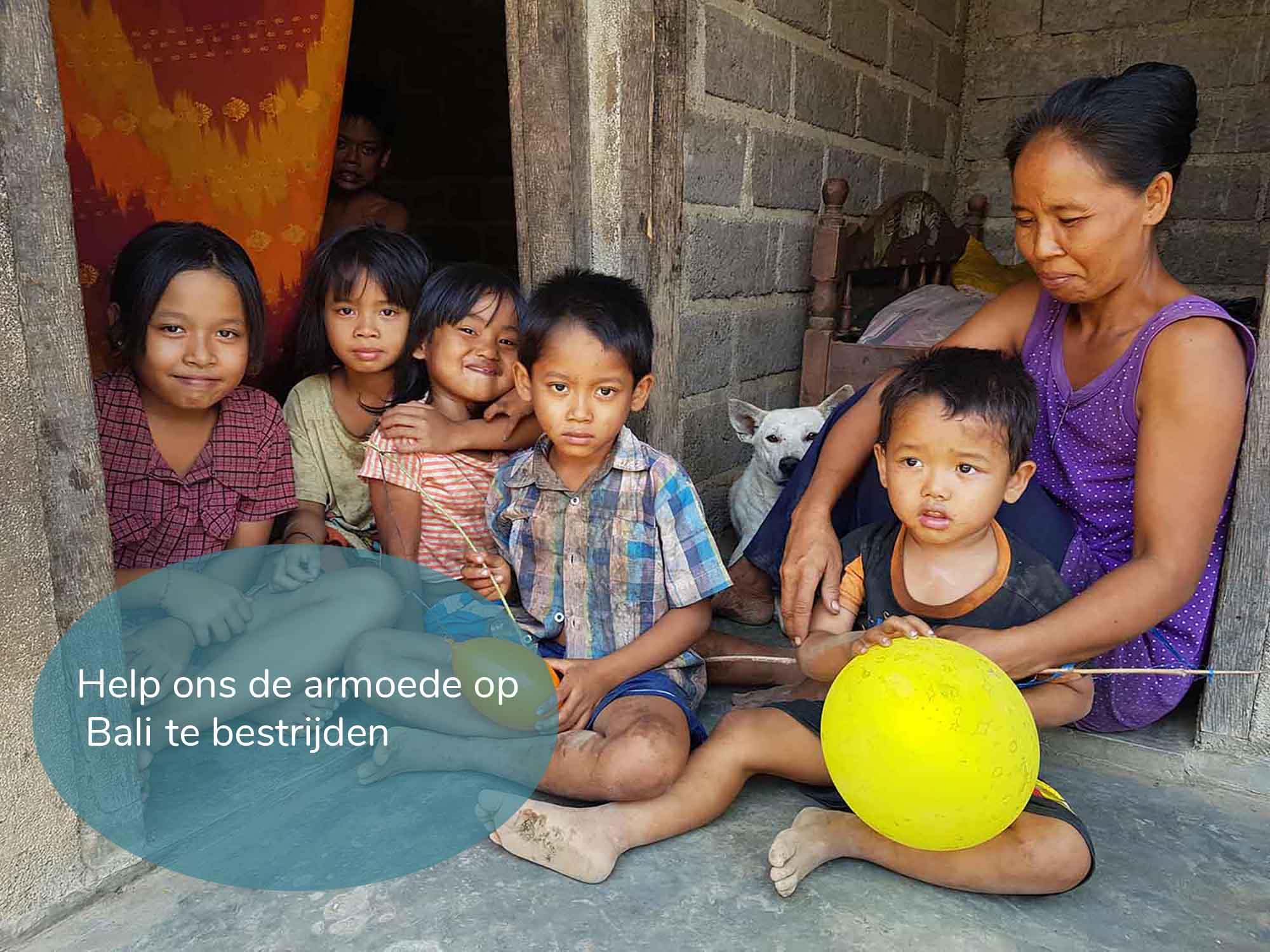 kinderen Bali armoede