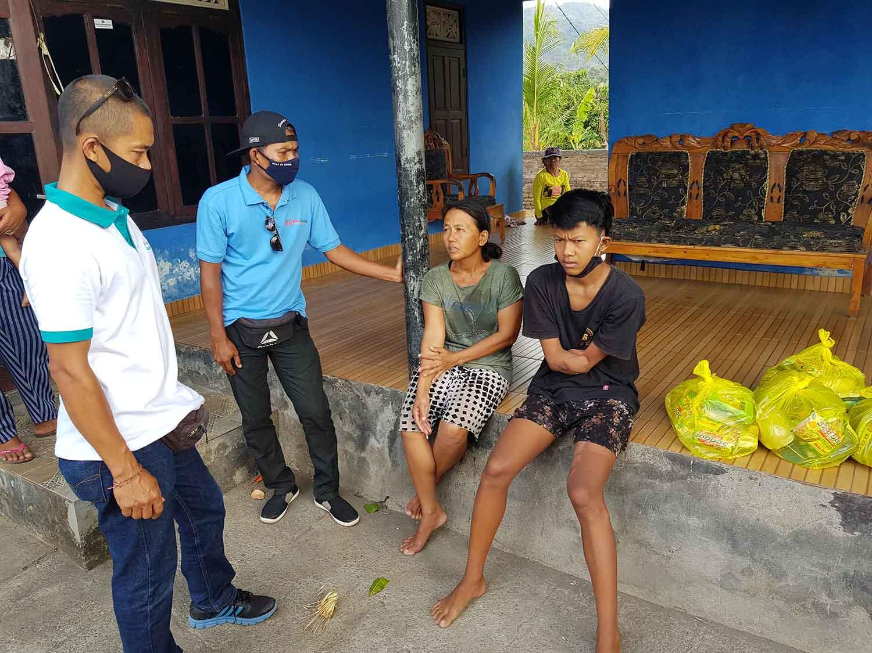 voedselpakketten project Indonesië